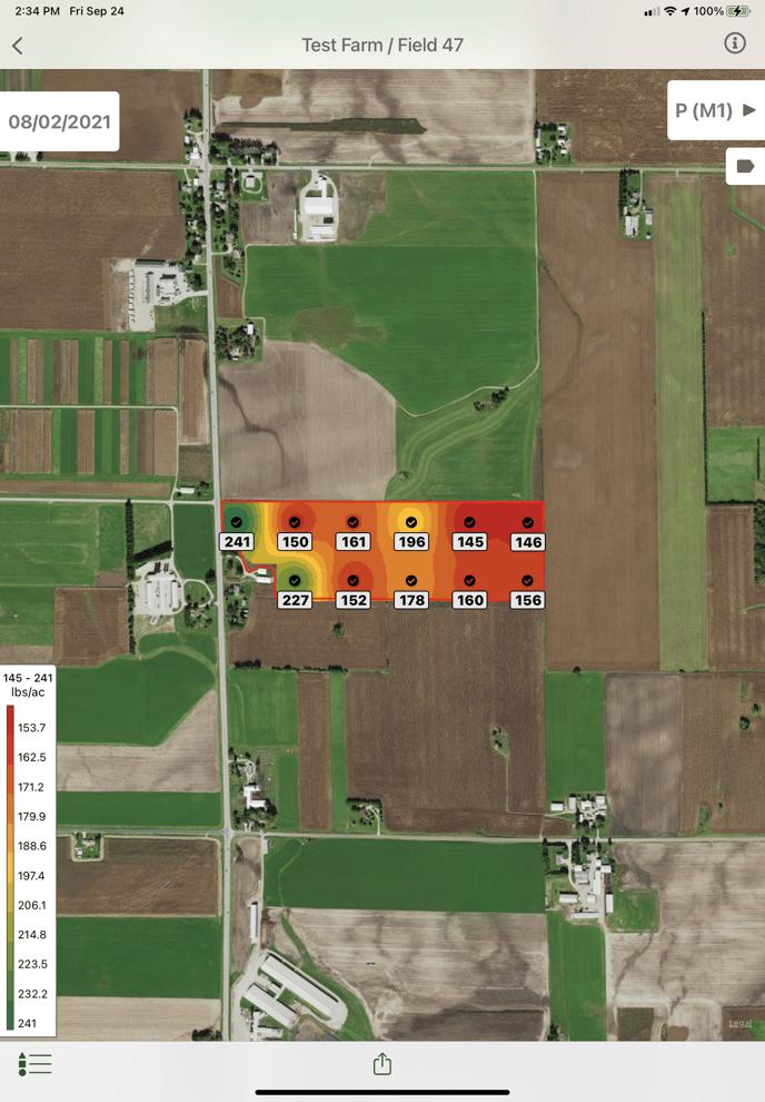 Nutrient Result in Field