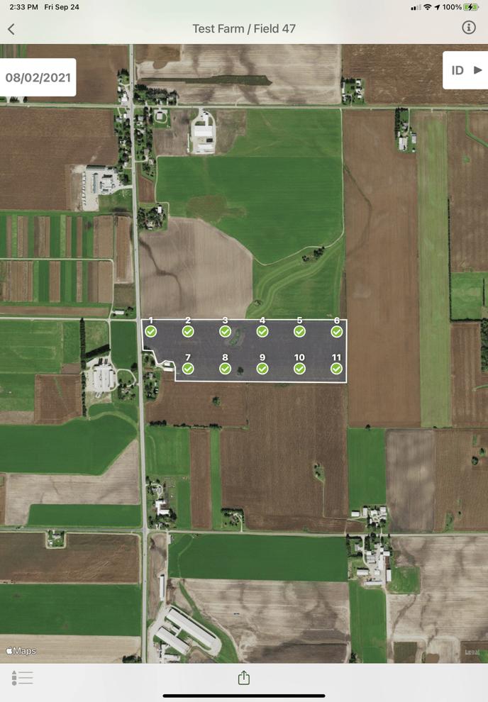 Soil Test results in Field